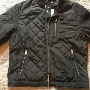 Men's H&M Jacket - Size XL - Dark Green & Black